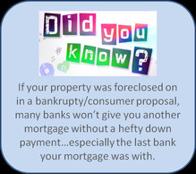 Bankruptcy or consumer proposal. 10 Tips on getting a mortgage after.
