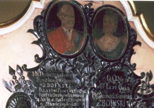 Zdjęcie - Epitafium Zboińskich znajdujące się w kościele Ojców Bernardynów w Skępem