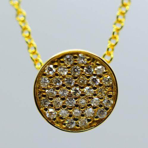 Elegant Gold Diamond Circle