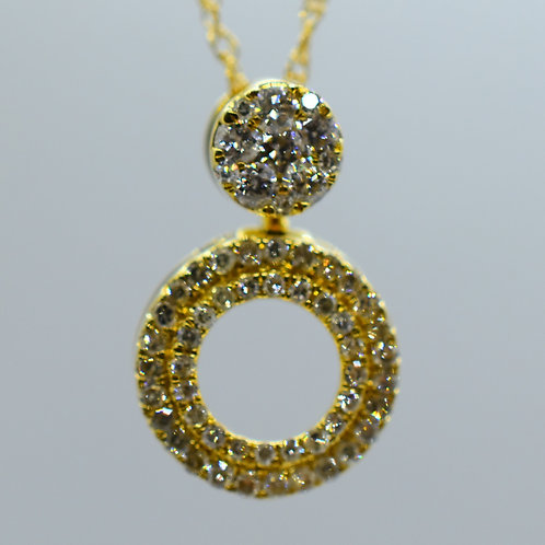 Cut Out Diamond Pendant