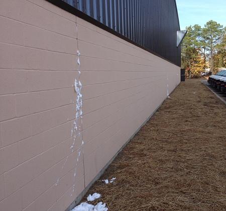 Injection foam insulating & air sealing block wall