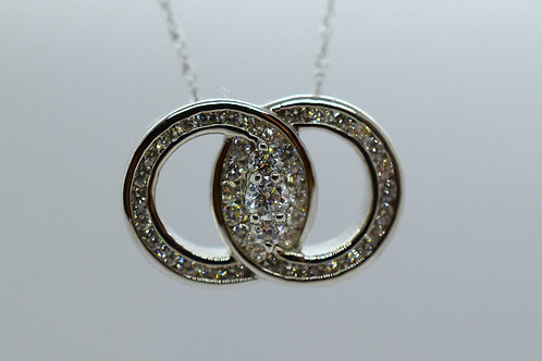 Connected Diamond Pendant