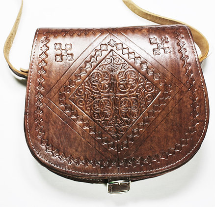 Moroccan Side Saddle Bag - Brown