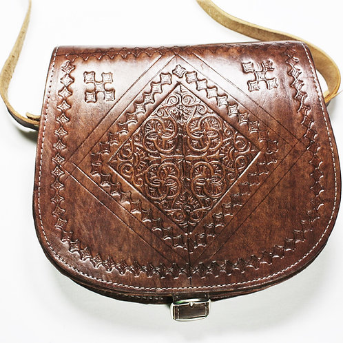Moroccan Side Saddle Bag - Brown