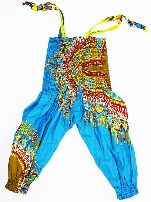 3-6 Month African Print Romper