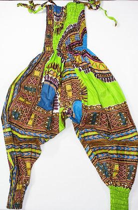 3-4 Year African Print Romper
