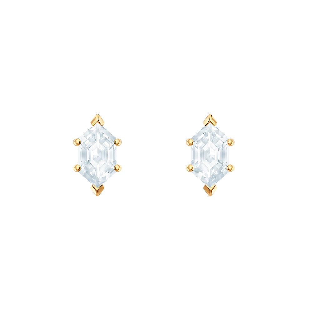 Oz Pierced Earrings White Gold Plating