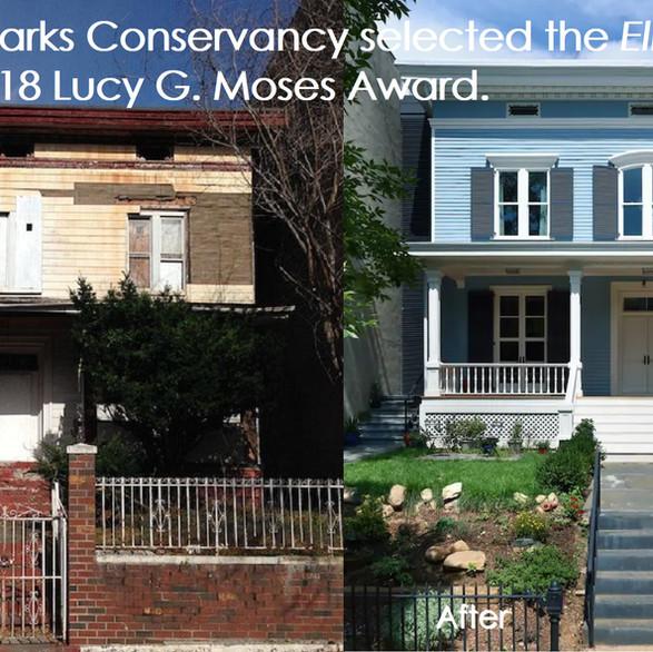 Elkins House before & after