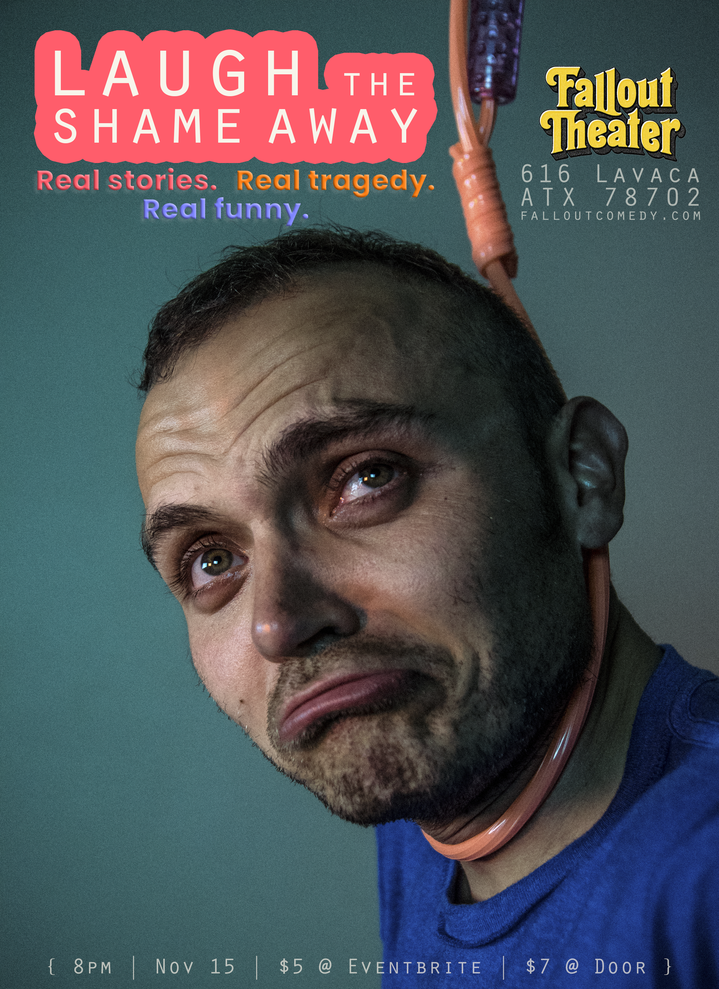 Laugh the Shame Away Promo Poster