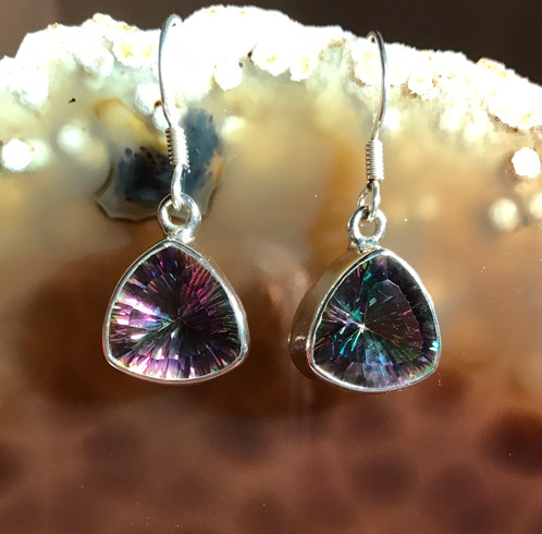 earrings mystic topaz christmas jewelry silver set