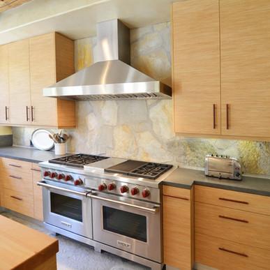 Light matte textured Rialto wood for organic kitchen