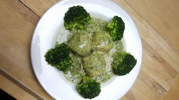 SOLE FILLETS, RICE AND BROCCOLI