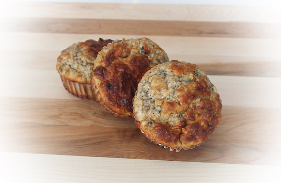 OAT MUFFINS WITH DRIED FRUIT (4 MUFFINS)