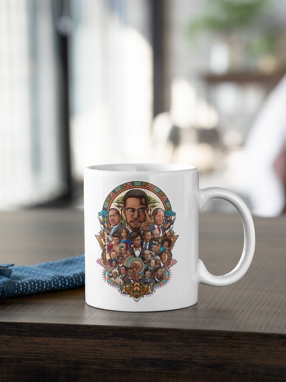 Black History Collage Mug and Coaster (Sublimated)