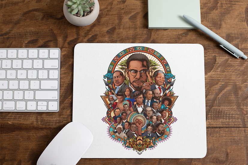 Black History Collage Mouse Pad