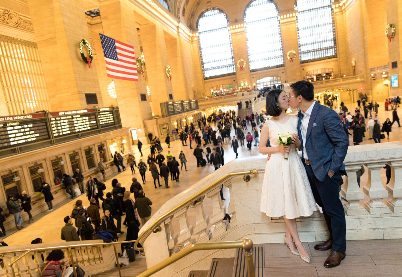 NYC Courthouse Wedding | Calen Rose Photography | Grand Central Station