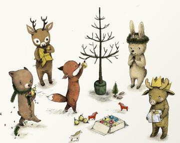 christmas-animals-poster-merry-christmas