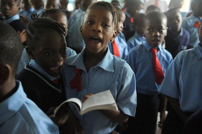 Σ' ένα από τα ιδιωτικά σχολεία της Νιγηρίας