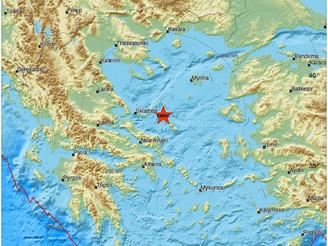 Σεισμός σημειώθηκε χθες τη νύχτα