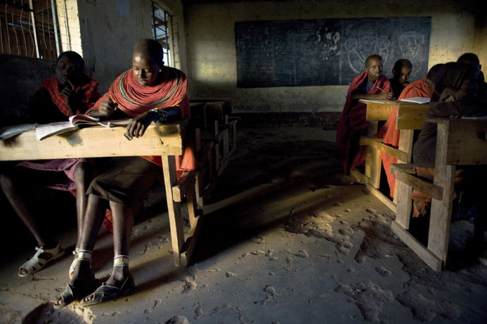 Δημοτικό σχολείο στην Kisima, δήμος Βορείου Κένυας, κομητεία του Samburu