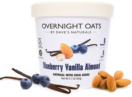 Blueberry Vanilla Almond Overnight Oats