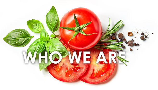 Image of tomatoes, basil, and herbs