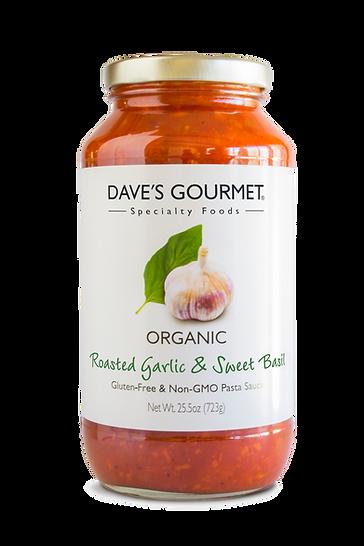 Organic Roasted Garlic & Sweet Basil Pasta Sauce