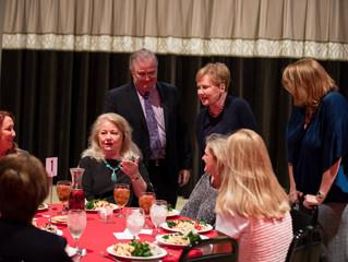 Congresswoman Kay Granger at the Eastside Blossoms table