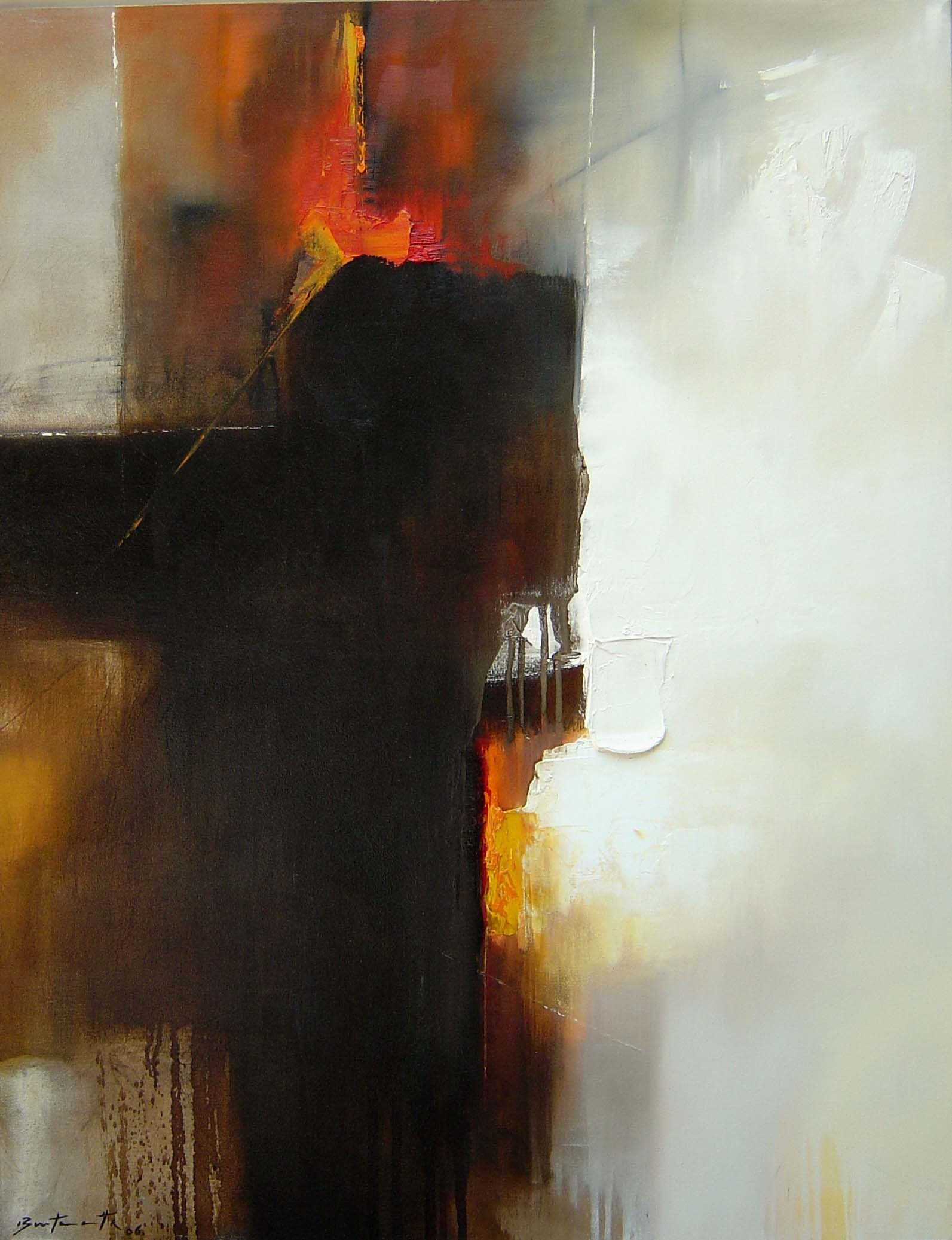 José_Luis_Bustamante,_Castigando_la_luz,_2006,_óleo_y_hoja_de_plata-tela,_90_x_70_cm_(2)