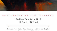 Bustamante Artwork at Artexpo NY 2018