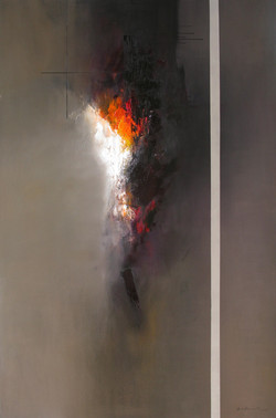 José_Luis_Bustamante,_Sitio_Sagrado,_2014,_óleo_sobre_tela,_200_x_130_cm