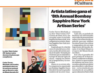 Our Guest Artist wins Bombay Sapphire prize - New York Artisan Series