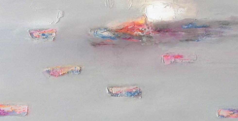 Mystical Wind, 2017 43.3 × 43.3 × 2 in