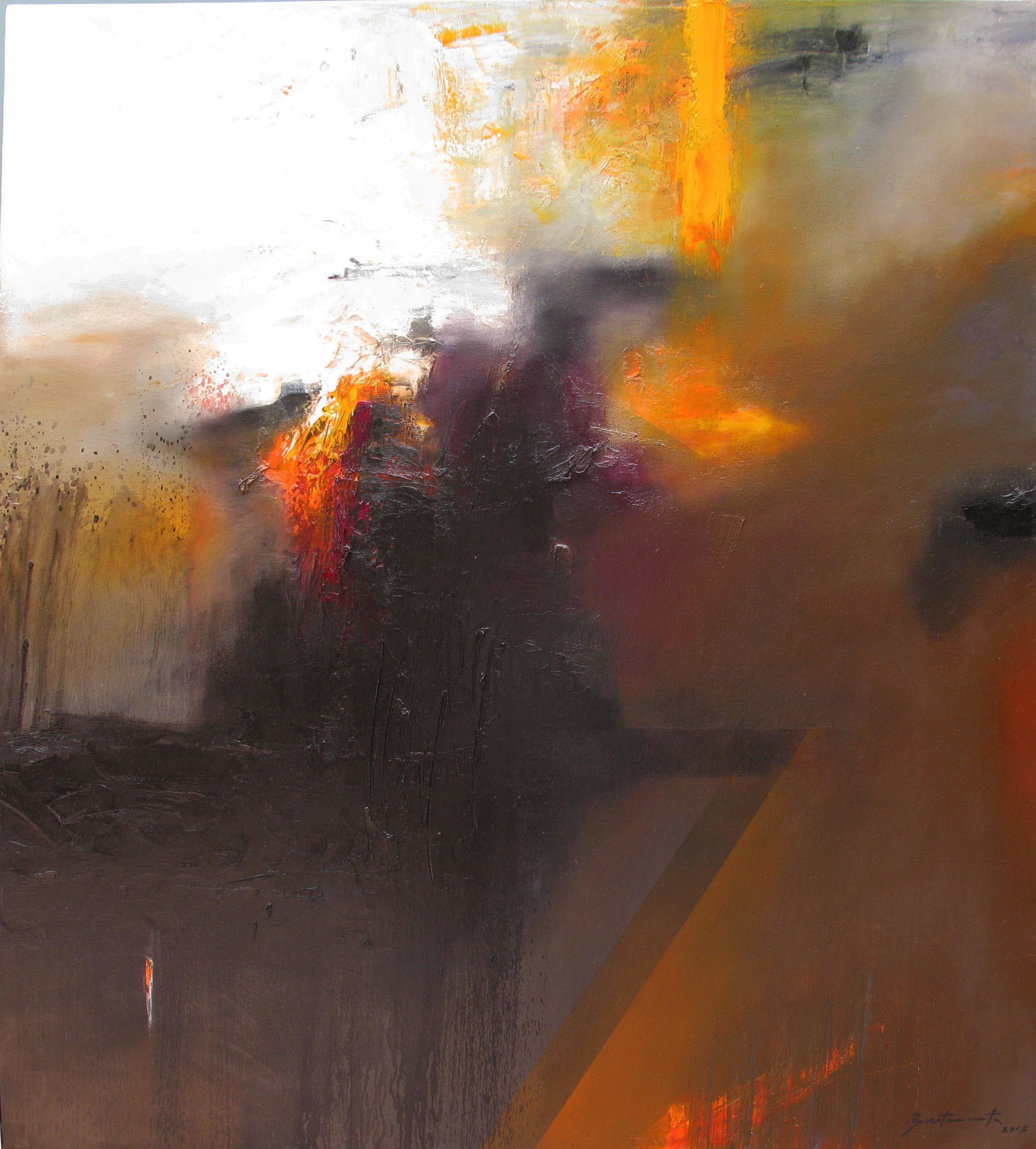 JoséLuis_Bustamante,_Tierra_del_fuego,_2013,_óleo_sobre_tela,_110_x_100_cm