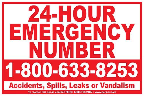 """Vinyl - Emergency Number Decal 12"""" x 18"""""""