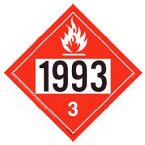 UN1993 Placard