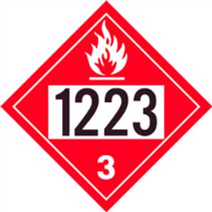 UN1223 PLACARD