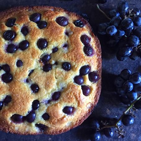 Grape & Olive Oil Cake