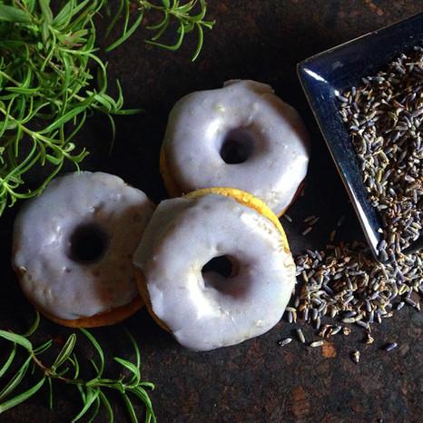Lavender & Fresh Rosemary Baked Donuts