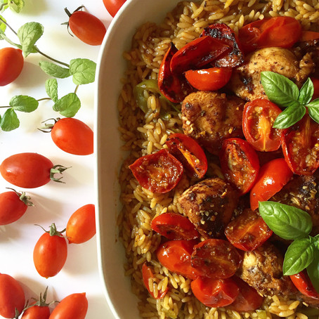 Orzo One-Pot with Chicken & Tomato