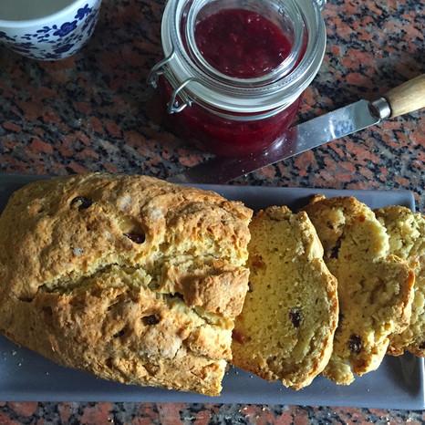 Soda Bread with Raisins & Aniseed