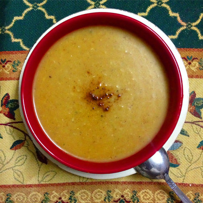 Hearty Oven-Roasted Pumpkin Soup
