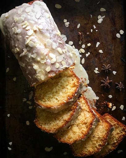 Coconut Almond Loaf Cake
