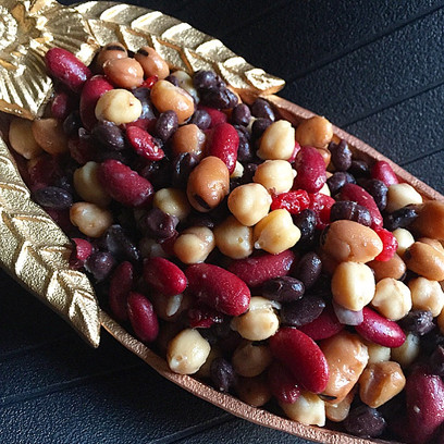 Super-Bean Salad with Dried Cranberries