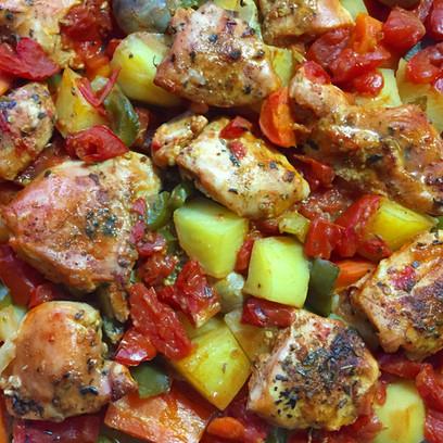 One-Pot Chicken & Veggie Tagine