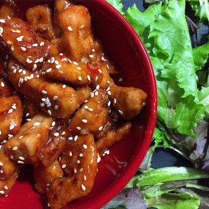 Baked Sweet Chile Chicken with Sesame