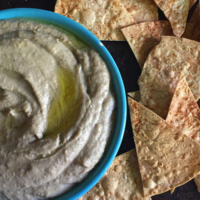 Super Babaghanoug & Oven-toasted Tortilla Chips