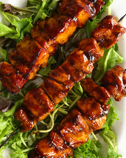 BBQ ROASTED CHICKEN KEBABS