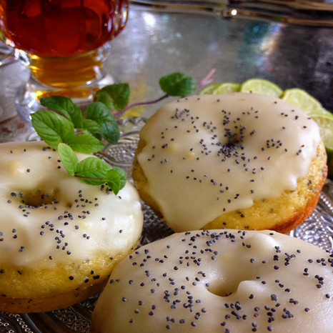 Lemon Poppy-Seed Baked Donuts