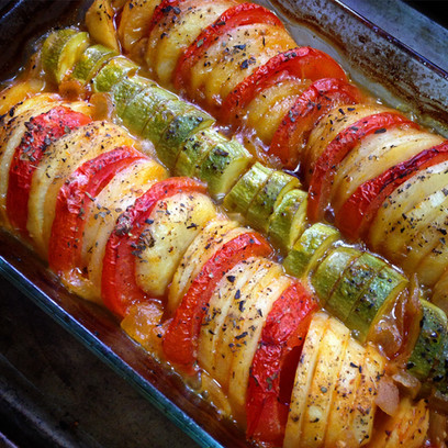Fast Oven-Roasted Veggie Tian